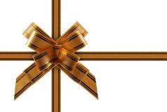 поздравительная тесемка золота Стоковое Изображение