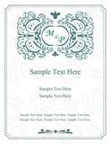 Поздравительные открытки Приглашение с викторианскими орнаментами, красивыми, роскошными открытками стоковое изображение rf