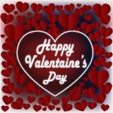 Поздравительные открытки формы сердца валентинки Стоковые Изображения RF