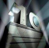 поздравление 10 Стоковое Изображение
