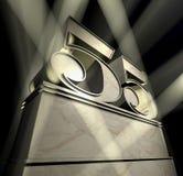 поздравление 55 Стоковое Изображение RF