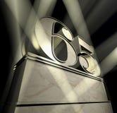 поздравление 65 Стоковое Изображение RF