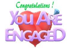 Поздравления - вы включенная электронная поздравительная открытка бесплатная иллюстрация