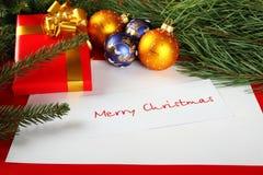 поздравления рождества карточки Стоковая Фотография