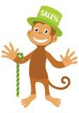позеленейте вектор усмешки сбывания обезьяны шлема Стоковые Фото