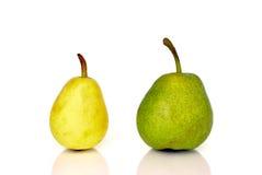 позеленейте желтый цвет груш Стоковые Фотографии RF