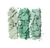 Позеленейте задавленные тени для век для состава как образец косметического продукта Стоковые Фотографии RF