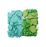 Позеленейте задавленные тени для век для состава как образец косметического продукта Стоковая Фотография