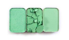 Позеленейте задавленные тени для век для составьте как образец косметического продукта Стоковые Изображения