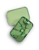 Позеленейте задавленные тени для век для составьте как образец косметического продукта Стоковое фото RF