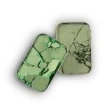 Позеленейте задавленные тени для век для составьте как образец косметического продукта Стоковое Изображение
