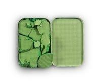 Позеленейте задавленные тени для век для составьте как образец косметического продукта Стоковые Фото