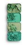 Позеленейте задавленные тени для век для составьте как образец косметического продукта Стоковая Фотография
