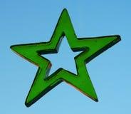 Позеленейте звезду стоковые фотографии rf