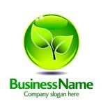 позеленейте логос листьев Стоковое Изображение