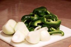 позеленейте перцы луков Стоковая Фотография RF