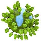 позеленейте планету Стоковое Фото