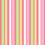 позеленейте розовые безшовные обои вектора нашивок Стоковая Фотография RF