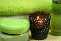 позеленейте терапию спы стоковое фото rf