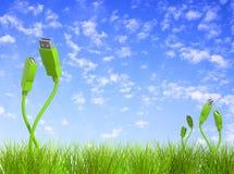 позеленейте технологию иллюстрация вектора