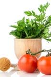 позеленейте томаты листьев травы Стоковые Фотографии RF