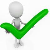 Позеленейте человека контрольной пометки Стоковое Фото