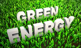 Позеленейте энергию иллюстрация штока