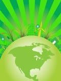 Позеленейте город Стоковое Изображение RF