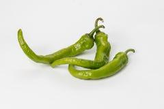 Позеленейте перцы chili Стоковые Фотографии RF