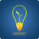 Позеленейте энергию также вектор иллюстрации притяжки corel Стоковая Фотография RF