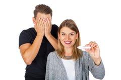 позитв теста на беременность Стоковые Изображения RF
