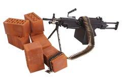 позиция включить пулемета стоковая фотография