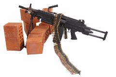 позиция включить пулемета стоковое фото rf
