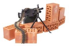 позиция включить пулемета стоковое изображение