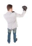 позиция перчаток бой бизнесмена бокса Стоковые Изображения
