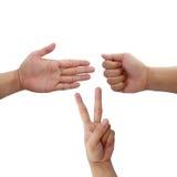 Позиция руки Стоковая Фотография RF