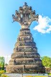 Позиция 7 naga голов (короля nagas) overspreaded его 7 h Стоковое Фото