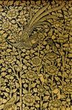 Позолотите искусство лака классического тайского стиля искусства Стоковые Изображения
