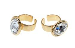 2 позолоченных кольца Стоковые Фото