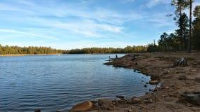 Поздно вечером на озере Стоковое фото RF