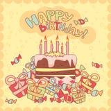 поздравительая открытка ко дню рождения счастливая Стоковая Фотография