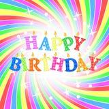 поздравительая открытка ко дню рождения счастливая Стоковое фото RF
