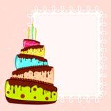 поздравительая открытка ко дню рождения Стоковые Фотографии RF
