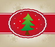 Поздравительная открытка рождества Стоковые Изображения