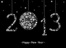 Поздравительная открытка 2013 с новым годом. Стоковые Фотографии RF