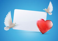 Поздравительная открытка Стоковые Изображения