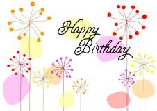 Поздравительая открытка ко дню рождения вектора Стоковое фото RF