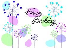 Поздравительая открытка ко дню рождения вектора Стоковое Фото
