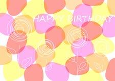 Поздравительая открытка ко дню рождения вектора Стоковая Фотография RF