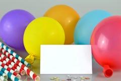 поздравительая открытка ко дню рождения пустая Стоковое Изображение RF